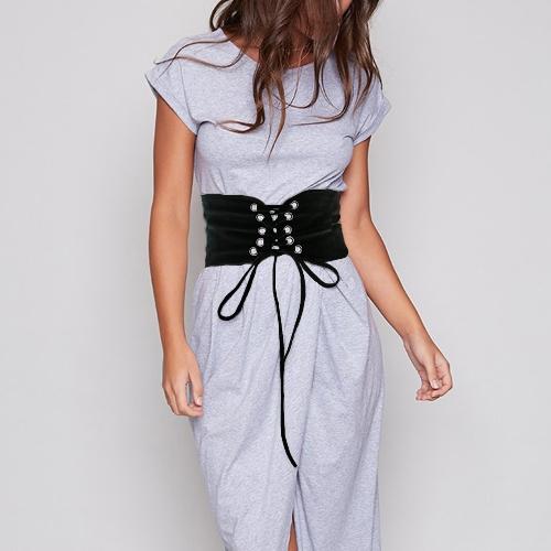 New Fashion Women Vintage Waist Belt Self-tie Hook Waistband Waist Strap White/BlackApparel &amp; Jewelry<br>New Fashion Women Vintage Waist Belt Self-tie Hook Waistband Waist Strap White/Black<br>
