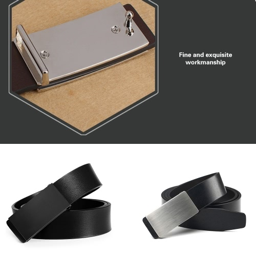 Fashion Modern Design Leather Strap Belt Business Casual Zinc Alloy Automatic Metal Smooth Glossy Buckle Male Trousers Leisure WaiApparel &amp; Jewelry<br>Fashion Modern Design Leather Strap Belt Business Casual Zinc Alloy Automatic Metal Smooth Glossy Buckle Male Trousers Leisure Wai<br>