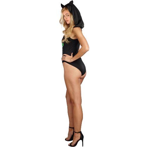 Women Halloween Bodycon Hooded Jumpsuit Pretty Kitty Cat V-Neck Party Costume CosplayApparel &amp; Jewelry<br>Women Halloween Bodycon Hooded Jumpsuit Pretty Kitty Cat V-Neck Party Costume Cosplay<br>