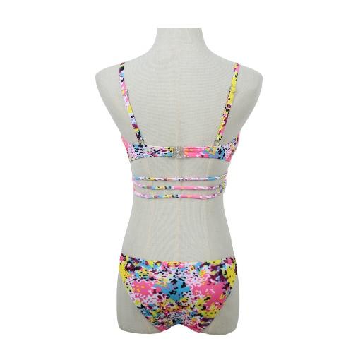 Sexy Women Bikini Set Colorful Dot Print Push Up Top Bottom Beach Swimwear Swimsuit Bathing Suit PinkApparel &amp; Jewelry<br>Sexy Women Bikini Set Colorful Dot Print Push Up Top Bottom Beach Swimwear Swimsuit Bathing Suit Pink<br>