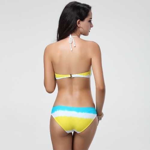 Sexy Women Bikini Set Contrast Color Push Up Halter Top Bottom Beach Swimwear Swimsuit Bathing Suit Blue/Yellow/OrangeApparel &amp; Jewelry<br>Sexy Women Bikini Set Contrast Color Push Up Halter Top Bottom Beach Swimwear Swimsuit Bathing Suit Blue/Yellow/Orange<br>
