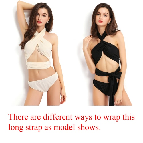 Hot Summer Women Two-piece Bikini Set Halter Criss Cross Elastic Waist Backless Beach Bandage Strappy Swimwear SwimsuitApparel &amp; Jewelry<br>Hot Summer Women Two-piece Bikini Set Halter Criss Cross Elastic Waist Backless Beach Bandage Strappy Swimwear Swimsuit<br>