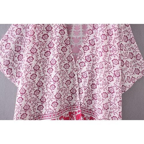 Fashion Women Chiffon Beach Kimono Vintage Mandala Floral Printed Bikini Cover Up Boho Bathing Outwear Jacket Blue/RoseApparel &amp; Jewelry<br>Fashion Women Chiffon Beach Kimono Vintage Mandala Floral Printed Bikini Cover Up Boho Bathing Outwear Jacket Blue/Rose<br>