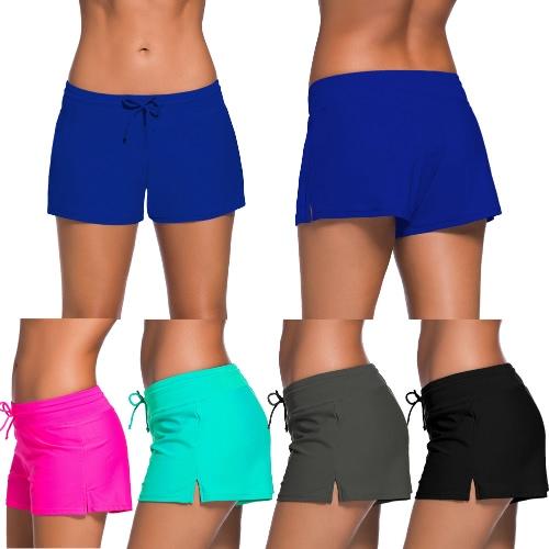 Women Swim Boardshort Boardies Low Waist Drawstring Split Hem Sporty Beach Pants Beachwear SwimwearApparel &amp; Jewelry<br>Women Swim Boardshort Boardies Low Waist Drawstring Split Hem Sporty Beach Pants Beachwear Swimwear<br>