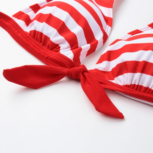 Sexy Women Bikini Set Swimwear Stripe Halter Top Push Up Padded Swimsuit Beachwear Bathing Suit Red/Blue/BlackApparel &amp; Jewelry<br>Sexy Women Bikini Set Swimwear Stripe Halter Top Push Up Padded Swimsuit Beachwear Bathing Suit Red/Blue/Black<br>