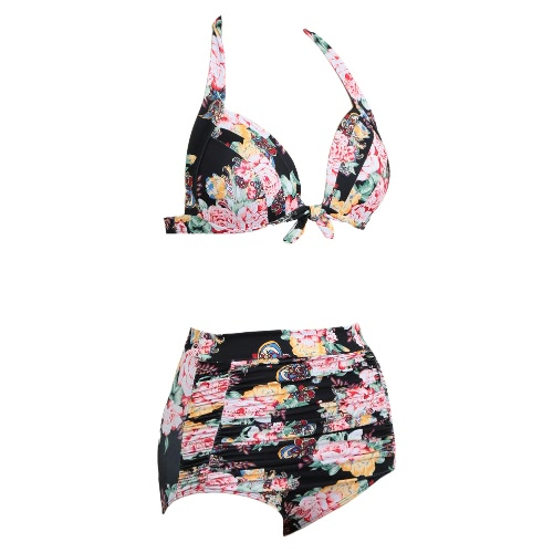 High Waist Swimsuit Women Bikini Set Push Up Swimwear Padded Beach Wear Bathing Suit Floral PrintApparel &amp; Jewelry<br>High Waist Swimsuit Women Bikini Set Push Up Swimwear Padded Beach Wear Bathing Suit Floral Print<br>