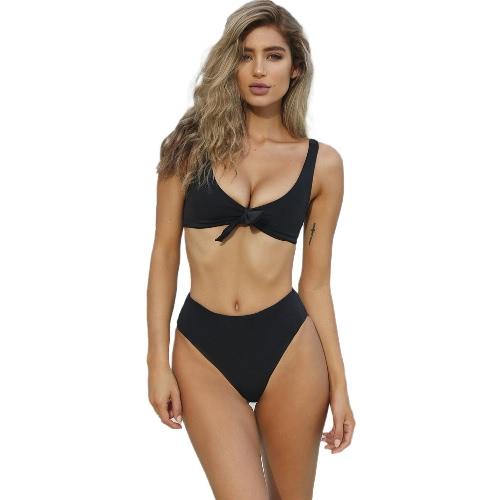 Sexy Women Bikini Set Solid Color Bandage Skimpy Swimwear Two-Piece Beach Swimsuit Blue/Black/RedApparel &amp; Jewelry<br>Sexy Women Bikini Set Solid Color Bandage Skimpy Swimwear Two-Piece Beach Swimsuit Blue/Black/Red<br>