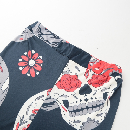 Sexy Women Yoga Sports Leggings Floral Skull Head Diamond Print High Waist Workout Running Skinny Slim Fitness PantsApparel &amp; Jewelry<br>Sexy Women Yoga Sports Leggings Floral Skull Head Diamond Print High Waist Workout Running Skinny Slim Fitness Pants<br>
