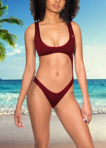 Women One Piece Swimsuit Swimwear Plunge Neck Cut Out Backless Bathing Suit Beachwear MonokiniApparel &amp; Jewelry<br>Women One Piece Swimsuit Swimwear Plunge Neck Cut Out Backless Bathing Suit Beachwear Monokini<br>