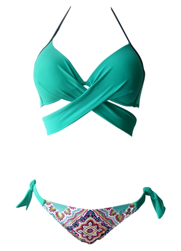 Sexy Women Bikini Set Halter Cross Wire Free Padding Low Waist Thong Biquini Swimwear SwimsuitApparel &amp; Jewelry<br>Sexy Women Bikini Set Halter Cross Wire Free Padding Low Waist Thong Biquini Swimwear Swimsuit<br>