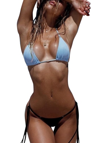 Sexy Women Bikini Set Solid Bandage Strappy Halter Top Thong Two-Piece Swimwear Beach Swimsuit Bathing SuitApparel &amp; Jewelry<br>Sexy Women Bikini Set Solid Bandage Strappy Halter Top Thong Two-Piece Swimwear Beach Swimsuit Bathing Suit<br>