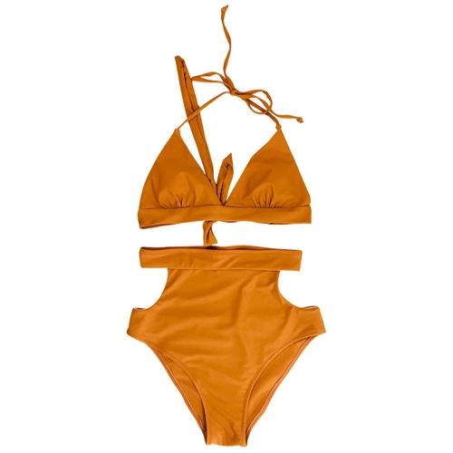 Sexy Women High Waist Bikini Set Halter Straps Cut Out Side Backless Two Piece Swimsuit SwimwearApparel &amp; Jewelry<br>Sexy Women High Waist Bikini Set Halter Straps Cut Out Side Backless Two Piece Swimsuit Swimwear<br>