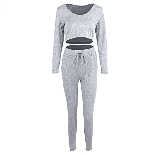 Sexy Women 2-Piece Set Hooded Crop Top Long Sleeve Gym Yoga Workout Fitness Pants Hoodie Leggings Suit Outfit SportwearApparel &amp; Jewelry<br>Sexy Women 2-Piece Set Hooded Crop Top Long Sleeve Gym Yoga Workout Fitness Pants Hoodie Leggings Suit Outfit Sportwear<br>