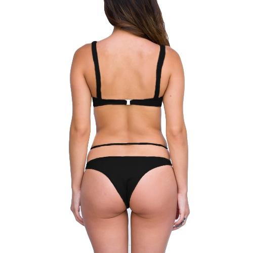 New Sexy Women Strappy Bikini Set Deep V Neck Backless Low Waist Thong Biquini Swimwear SwimsuitApparel &amp; Jewelry<br>New Sexy Women Strappy Bikini Set Deep V Neck Backless Low Waist Thong Biquini Swimwear Swimsuit<br>