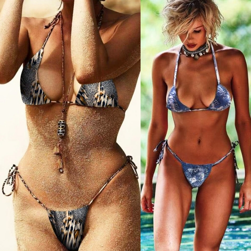 Sexy Women Bikini Set Halter Leopard Print Wireless Bathing Suit Swimsuits Two PieceApparel &amp; Jewelry<br>Sexy Women Bikini Set Halter Leopard Print Wireless Bathing Suit Swimsuits Two Piece<br>