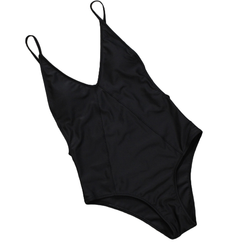 Women One Piece Swimsuit Backless Swimwear Plunge Neck Bathing Suit Beachwear Monokini BlackApparel &amp; Jewelry<br>Women One Piece Swimsuit Backless Swimwear Plunge Neck Bathing Suit Beachwear Monokini Black<br>