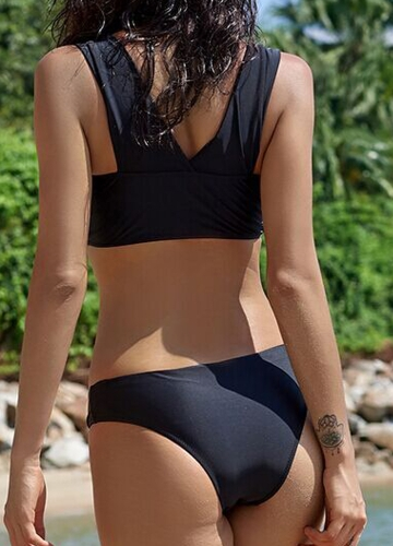 Sexy Women Bikini Set Swimsuit Push Up Swimwear Solid Bandage Beach Wear Bathing Suit Black/Army GreenApparel &amp; Jewelry<br>Sexy Women Bikini Set Swimsuit Push Up Swimwear Solid Bandage Beach Wear Bathing Suit Black/Army Green<br>