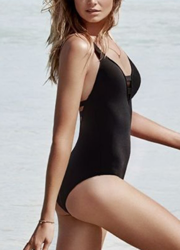 Sexy Women Swimsuit Deep V Neck Hollow Out Swimwear Beach Playsuit Jumpsuit Rompers BlackApparel &amp; Jewelry<br>Sexy Women Swimsuit Deep V Neck Hollow Out Swimwear Beach Playsuit Jumpsuit Rompers Black<br>
