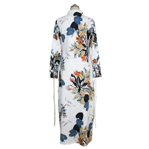 Fashion Women Long Sleeve Ethnic Floral Print Cardigan Shirt Summer Shirt Kimono Tunic Beach Cover Up WhiteApparel &amp; Jewelry<br>Fashion Women Long Sleeve Ethnic Floral Print Cardigan Shirt Summer Shirt Kimono Tunic Beach Cover Up White<br>