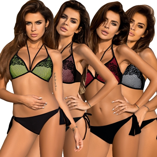 Sexy Women Lace Strappy Bikini Set Deep V-Neck Tie Waist Swimwear Swimsuit Beach Bathing SuitApparel &amp; Jewelry<br>Sexy Women Lace Strappy Bikini Set Deep V-Neck Tie Waist Swimwear Swimsuit Beach Bathing Suit<br>