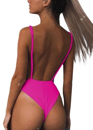 Women One Piece Swimsuit Cut Out Open Back Solid Padded Swimwear Monokini Bathing Suit BeachwearApparel &amp; Jewelry<br>Women One Piece Swimsuit Cut Out Open Back Solid Padded Swimwear Monokini Bathing Suit Beachwear<br>