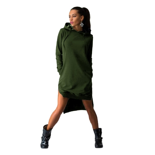 Trendy Sweatshirt Hoodie Long Sleeve Pockets Shift Dress for WomenApparel &amp; Jewelry<br>Trendy Sweatshirt Hoodie Long Sleeve Pockets Shift Dress for Women<br>