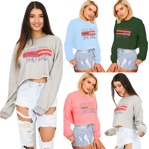 Women Long Sleeve T-Shirt Letter Print O-Neck Shirt Sweatshirt Top Casual Tee Hoodies PulloverApparel &amp; Jewelry<br>Women Long Sleeve T-Shirt Letter Print O-Neck Shirt Sweatshirt Top Casual Tee Hoodies Pullover<br>