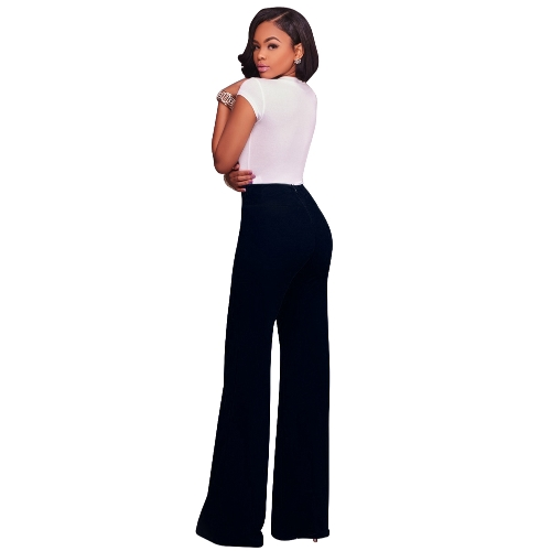 Women Casual Pants Straight Leg Pants High Waist Zipper Solid OL Work Wear TrousersApparel &amp; Jewelry<br>Women Casual Pants Straight Leg Pants High Waist Zipper Solid OL Work Wear Trousers<br>