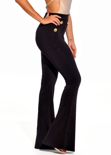 New Sexy Women Button Bodycon Bell Pants High Waist Flared Buttom Wide Leg Slim Casual Long TrousersApparel &amp; Jewelry<br>New Sexy Women Button Bodycon Bell Pants High Waist Flared Buttom Wide Leg Slim Casual Long Trousers<br>