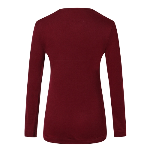 New Fashion Women Slim Single-breasted Basic T-shirt Long Sleeve Autumn Pure Color Cotton Tee TopsApparel &amp; Jewelry<br>New Fashion Women Slim Single-breasted Basic T-shirt Long Sleeve Autumn Pure Color Cotton Tee Tops<br>