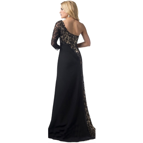 Elegant Women Lady Lace Cocktail Dress Sexy One Shoulder Prom Evening Long Maxi DressApparel &amp; Jewelry<br>Elegant Women Lady Lace Cocktail Dress Sexy One Shoulder Prom Evening Long Maxi Dress<br>