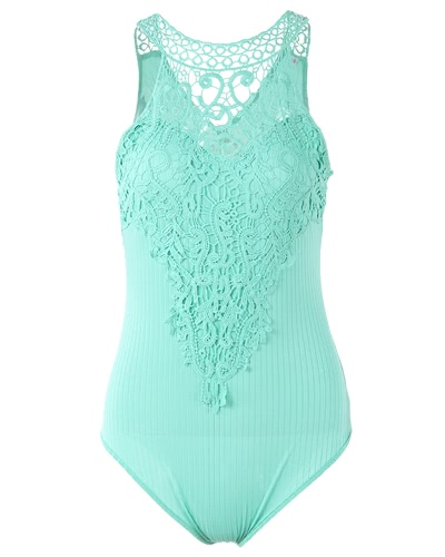 Sexy Women Bodycon Sleeveless Jumpsuit Bodysuit Hollow Out Crochet Lace Ribbed Slim Playsuit RompersApparel &amp; Jewelry<br>Sexy Women Bodycon Sleeveless Jumpsuit Bodysuit Hollow Out Crochet Lace Ribbed Slim Playsuit Rompers<br>