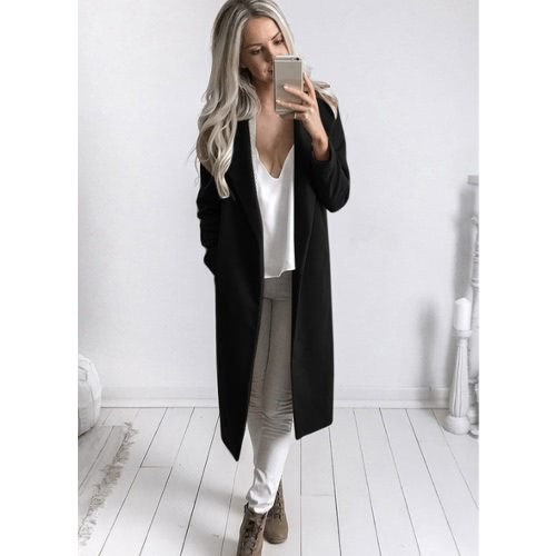Autumn Winter Women Coat Long Sleeve Pockets Casual Jackets Solid Overcoat OuterwearApparel &amp; Jewelry<br>Autumn Winter Women Coat Long Sleeve Pockets Casual Jackets Solid Overcoat Outerwear<br>