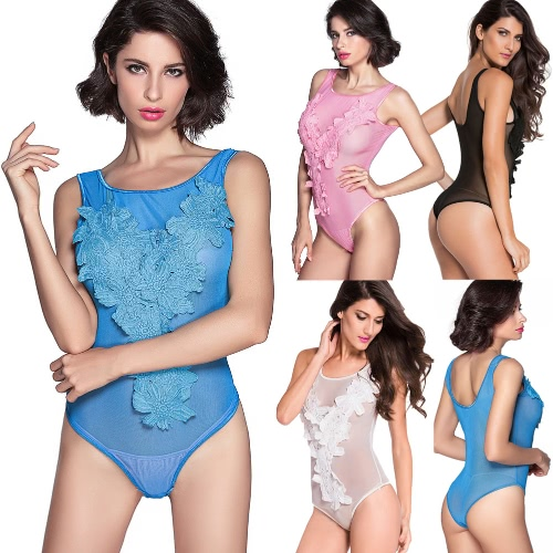 Hot Sexy Women Floral Embroidered Sheer Mesh Bodysuit Overalls Exotic Teddy Lingerie Sleepwear NightwearApparel &amp; Jewelry<br>Hot Sexy Women Floral Embroidered Sheer Mesh Bodysuit Overalls Exotic Teddy Lingerie Sleepwear Nightwear<br>