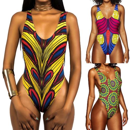Sexy Women One-Piece Swimsuit Swimwear African Totems Print Monokini Push Up Padded Bikini Bathing Suit BeachwearApparel &amp; Jewelry<br>Sexy Women One-Piece Swimsuit Swimwear African Totems Print Monokini Push Up Padded Bikini Bathing Suit Beachwear<br>