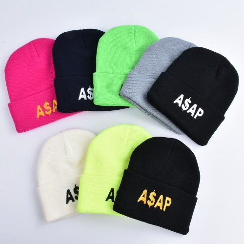 Unisex Men Women Beanies Knitted Hat ASAP Letter Skullies Baggy Hip Pop Winter Bonnet CapsApparel &amp; Jewelry<br>Unisex Men Women Beanies Knitted Hat ASAP Letter Skullies Baggy Hip Pop Winter Bonnet Caps<br>