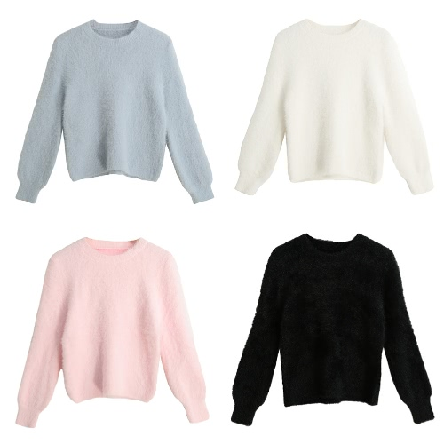 New Fashion Women Knitted Sweater Solid Color O-Neck Long Sleeve Casual Thick Warm Jumper Pullover KnitwearApparel &amp; Jewelry<br>New Fashion Women Knitted Sweater Solid Color O-Neck Long Sleeve Casual Thick Warm Jumper Pullover Knitwear<br>