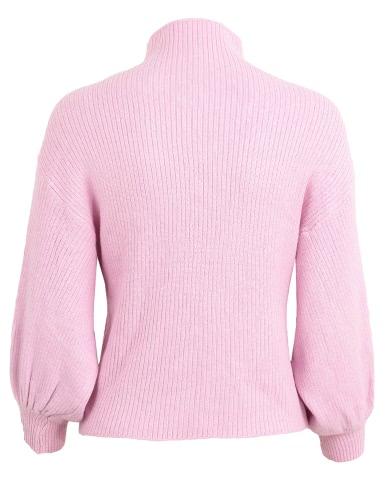 Autumn Winter Women Knitted Sweater High Neck Bat Lantern Sleeve Loose Solid Pullover Knitwear TopsApparel &amp; Jewelry<br>Autumn Winter Women Knitted Sweater High Neck Bat Lantern Sleeve Loose Solid Pullover Knitwear Tops<br>