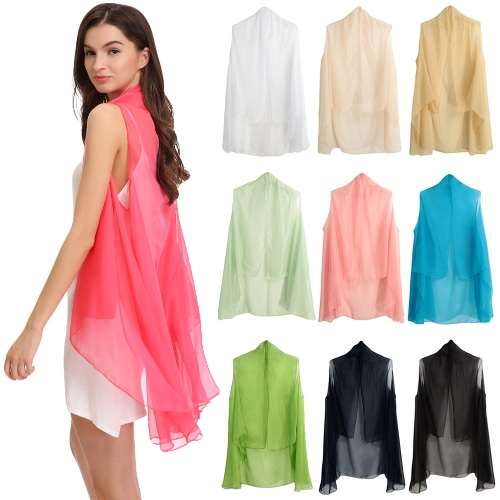 New Summer Women Chiffon Outerwear Open Front Sheer Sleeveless Solid Thin Casual Beach Cover-upApparel &amp; Jewelry<br>New Summer Women Chiffon Outerwear Open Front Sheer Sleeveless Solid Thin Casual Beach Cover-up<br>