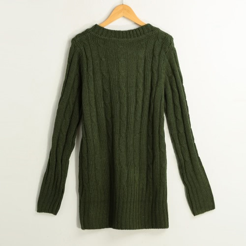 New Fashion Women Cable Knitted Sweater Solid Ribbed V Neck Long Sleeve Casual Longline Jumper Beige/Dark Green/GreyApparel &amp; Jewelry<br>New Fashion Women Cable Knitted Sweater Solid Ribbed V Neck Long Sleeve Casual Longline Jumper Beige/Dark Green/Grey<br>