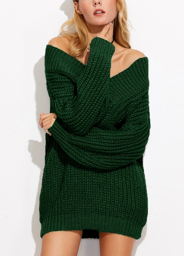 Women Sweater Off Shoulder V Neck Chunky Knit Long Sleeve Sexy Loose KnitwearApparel &amp; Jewelry<br>Women Sweater Off Shoulder V Neck Chunky Knit Long Sleeve Sexy Loose Knitwear<br>