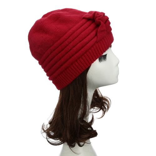 Fashion Women Knitted Hat Ruffle Ornament Muti Colors Thick Warmer CapApparel &amp; Jewelry<br>Fashion Women Knitted Hat Ruffle Ornament Muti Colors Thick Warmer Cap<br>