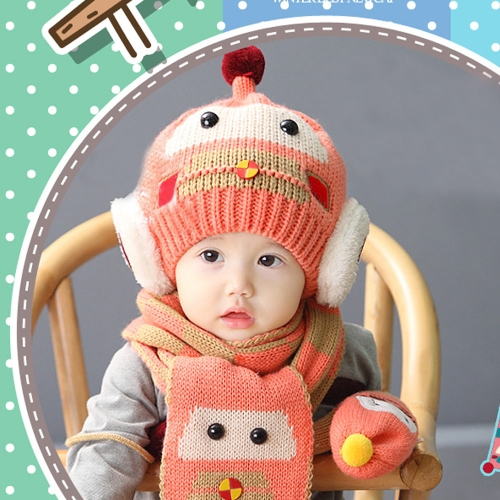Cute Winter Thicken Warm Kintted Hat Plaid Scarf for Toddlers Baby Boy and GirlApparel &amp; Jewelry<br>Cute Winter Thicken Warm Kintted Hat Plaid Scarf for Toddlers Baby Boy and Girl<br>