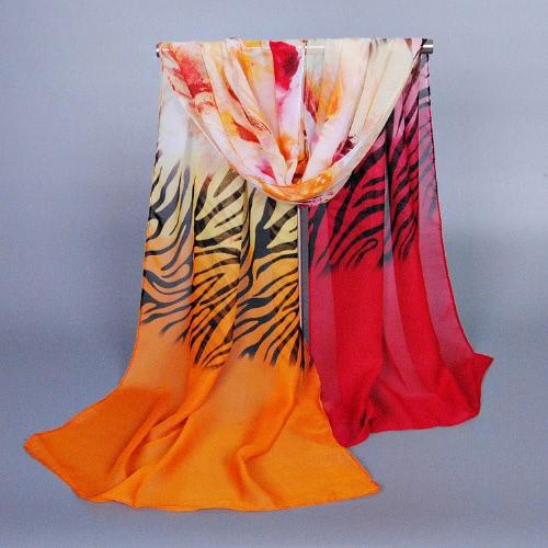Anself Charming Contrast Color Zebra Flower Print Colorful Long Shawl Pashmina ScarfApparel &amp; Jewelry<br>Anself Charming Contrast Color Zebra Flower Print Colorful Long Shawl Pashmina Scarf<br>