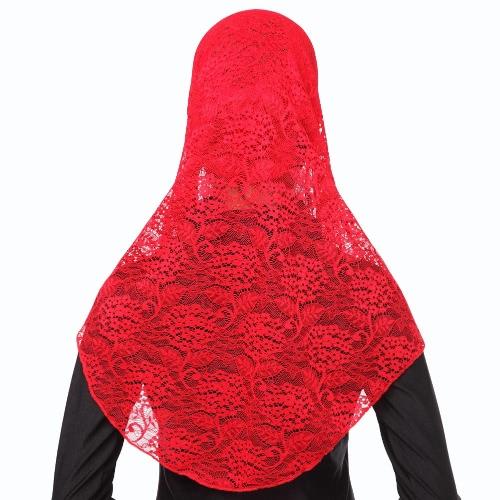 New Fashion Full Cover Muslim Hijab Two Piece Set Lace Solid Islamic Turban Cap BeaniesApparel &amp; Jewelry<br>New Fashion Full Cover Muslim Hijab Two Piece Set Lace Solid Islamic Turban Cap Beanies<br>