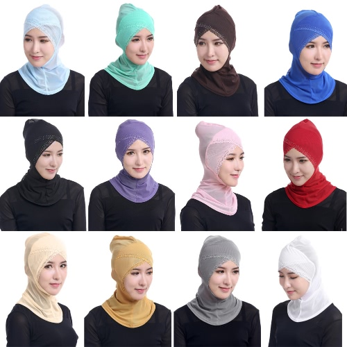 Fashion Full Cover Muslim Hijab Head Cover Scarf Rhinestone Lace Islamic Turban Beanies Underscarf Ninja HijabApparel &amp; Jewelry<br>Fashion Full Cover Muslim Hijab Head Cover Scarf Rhinestone Lace Islamic Turban Beanies Underscarf Ninja Hijab<br>