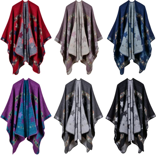 New Women Knitted Poncho Cape Star Oversized Cardigan Sweater Long Shawl Scarf Cashmere PashminaApparel &amp; Jewelry<br>New Women Knitted Poncho Cape Star Oversized Cardigan Sweater Long Shawl Scarf Cashmere Pashmina<br>