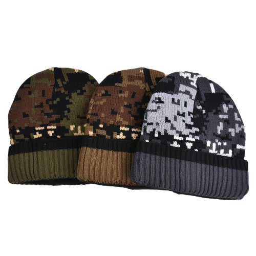 Men Women Unisex Camouflage Fleece Lining Beanie Thicken Winter Warm Hat Knit Camo Ski Bonnet GorrosApparel &amp; Jewelry<br>Men Women Unisex Camouflage Fleece Lining Beanie Thicken Winter Warm Hat Knit Camo Ski Bonnet Gorros<br>