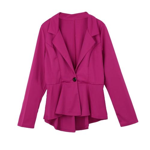New Fashion Women Blazer Button Front Long Sleeve Irregular Hem Slim Short Jacket Coat OuterwearApparel &amp; Jewelry<br>New Fashion Women Blazer Button Front Long Sleeve Irregular Hem Slim Short Jacket Coat Outerwear<br>