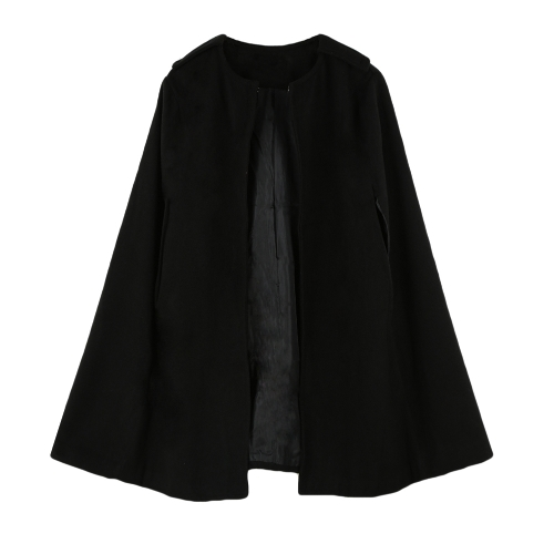 Chic Women Cape Coat Batwing Cloak Loose Poncho Warm Jacket Outerwear Camel/BlackApparel &amp; Jewelry<br>Chic Women Cape Coat Batwing Cloak Loose Poncho Warm Jacket Outerwear Camel/Black<br>